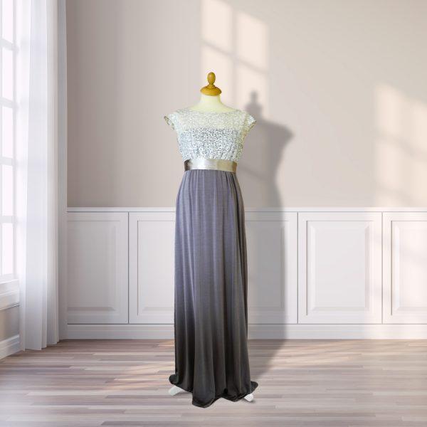 Two Toned Full Length Designer Dress