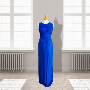 Designer Royal Blue Full length Dress