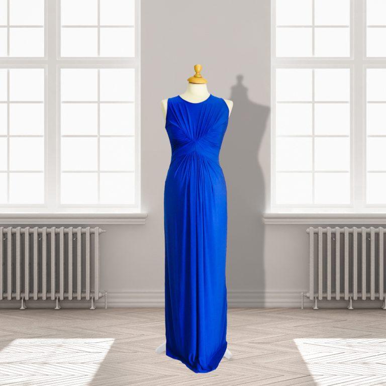 Designer Royal Blue Full length Dress
