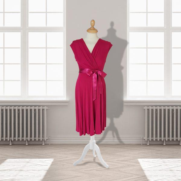 Designer Pink Knee Length Dress