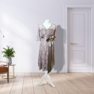 Designer Lace Blush Dress