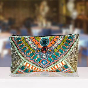 Multi-Colour Beaded Clutch