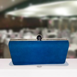 Royal Blue Box Clutch