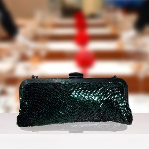 Small Green Beaded Clutch