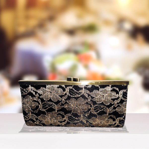 Black and Lace Clutch