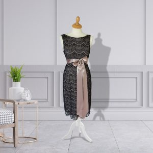 Designer Round Neck Lace Dress