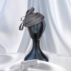 Glamorous Grey Headpiece on Hair band