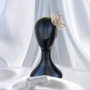 Simple Cream Feather Head Piece