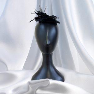 Stylish Black Feather Head Piece
