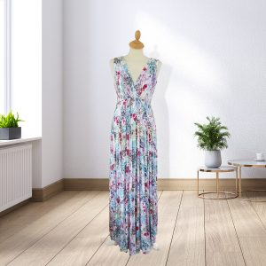 Designer Full Length Floral Dress