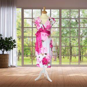 Pink Floral Designer Dress
